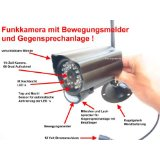 Funk Überwachungskamera DG60 mit Bewegungsmelder und Nachtsicht