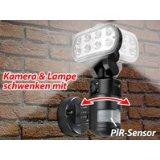VisorTech LED-Flutlicht Überwachungskamera